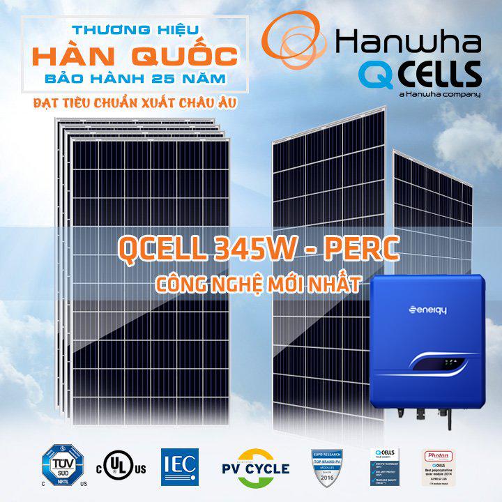 Điện Mặt Trời Hòa Lưới 2KW 6 Tấm Pin Qcell