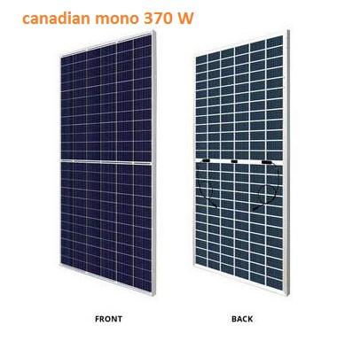 Tấm Pin Mặt Trời Canadian Mono Haff Cell 370W Sản Xuất Tại Việt Nam